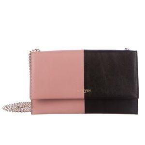 Bicolor Lanvin Sugar Wallet on Chain Pink & Black